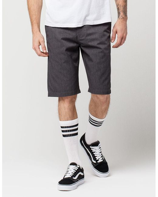 Volcom Synthetic Modern Frickin Ii Mens Chino Shorts in Black .