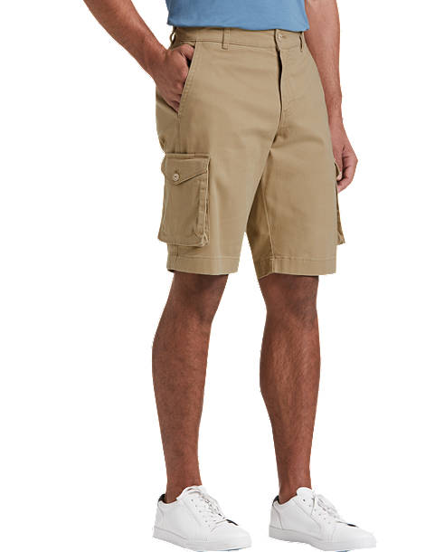 Joseph Abboud Tan Modern Fit Cargo Shorts - Men's Pants | Men's .