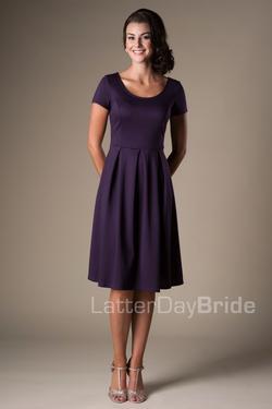 Modest Dresses | LatterDayBride | MW22070 purp