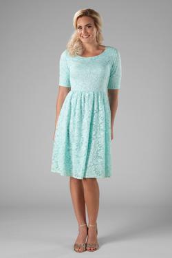 Modest Dresses : MW22880 seafoam *Buy one, get one FREE* - FINAL .
