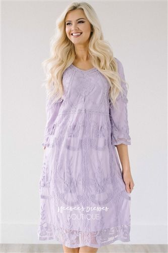 Day Dreamer Lace Dress in Lavender in 2020 | Modest dresses .
