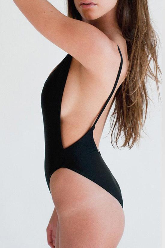 Open Back Monokini One-piece Swimsuit - TeeShirts
