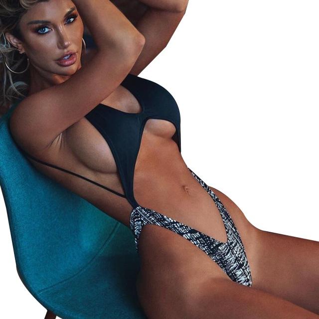 Monokini Swimwear Women Neon Swimsuits Backless Bikini Thong - Buy .