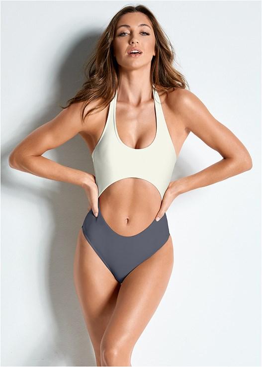 Versatility By Venus ™ Color Block Monokini Swimsuit in Sugar .
