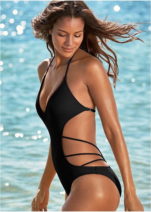 Spellbound Monokini Swimsuit in Black Beauty | VEN