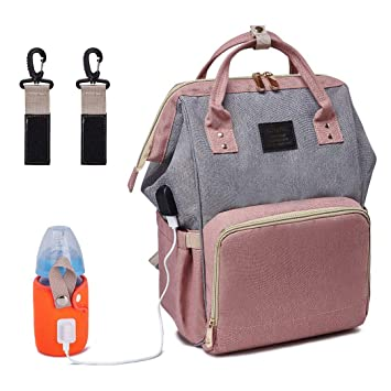 Amazon.com : LOVANA Backpack Diaper Bag Nappy Bags with USB .