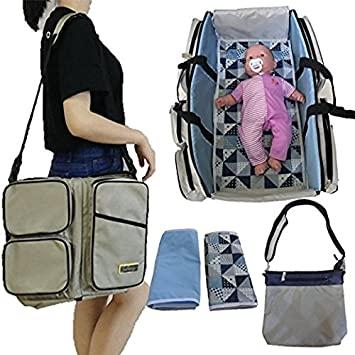 Amazon.com : Stylish Diaper Bag Set/Converts to Travel Bassinet .