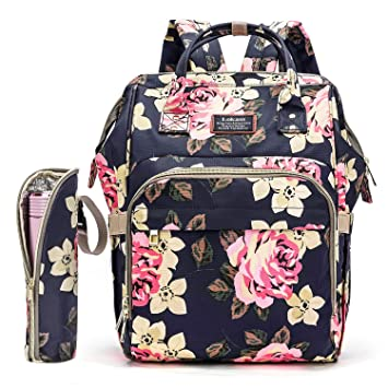 Amazon.com : Diaper Bag Backpack Floral Baby Bag Water-resistant .