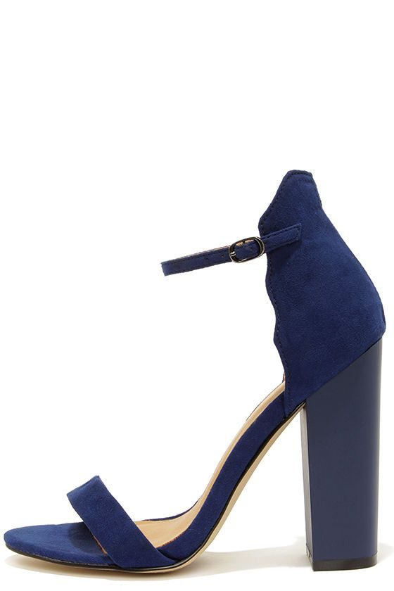 Chinese Laundry Sea Breeze Bright Navy Blue Ankle Strap | Blue .