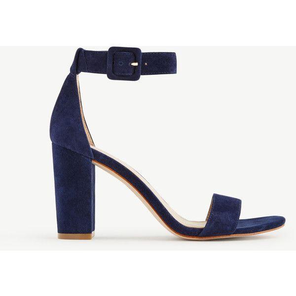 Ann Taylor Leda Block Heel Sandals ($138) ❤ liked on Polyvore .