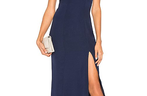 About Us Lisseth Maxi Dress in Navy | REVOL