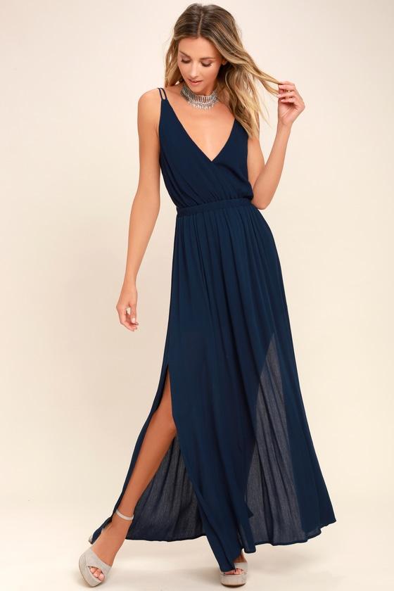 Celestial Black and Silver Wrap Maxi Dress | Best maxi dresses .