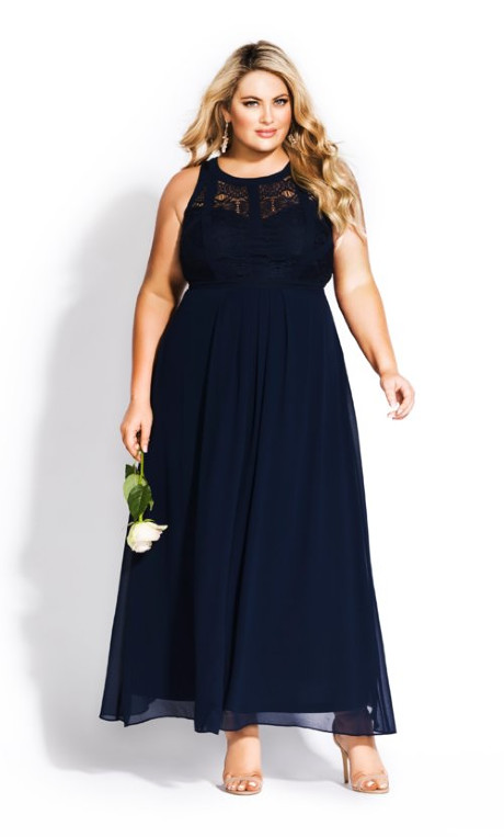 Shop Women's Plus Size Plus Size Panelled Bodice Maxi Dress - na