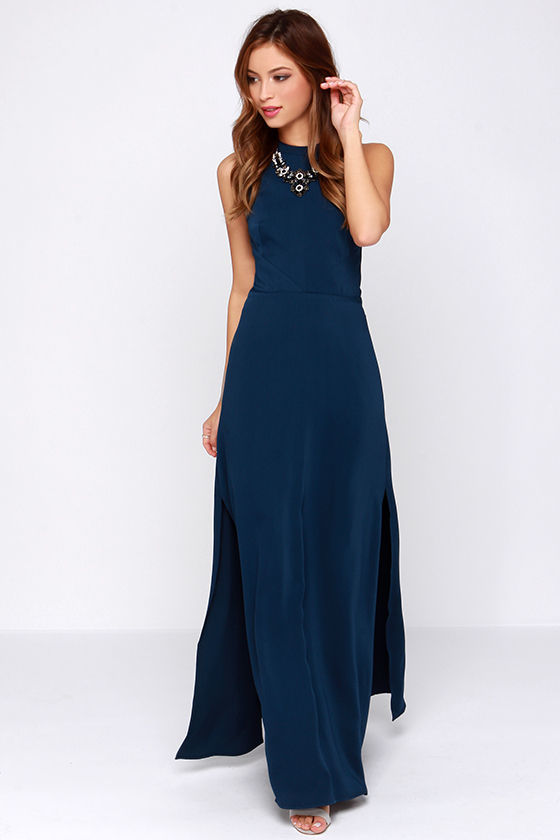 Keepsake Adore You Navy Blue Maxi Dress, $172 | Lulu's | Lookastic.c