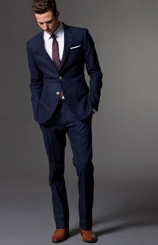 Custom Made Dark Blue Men Suit, Tailor Made Suit, Bespoke Light .