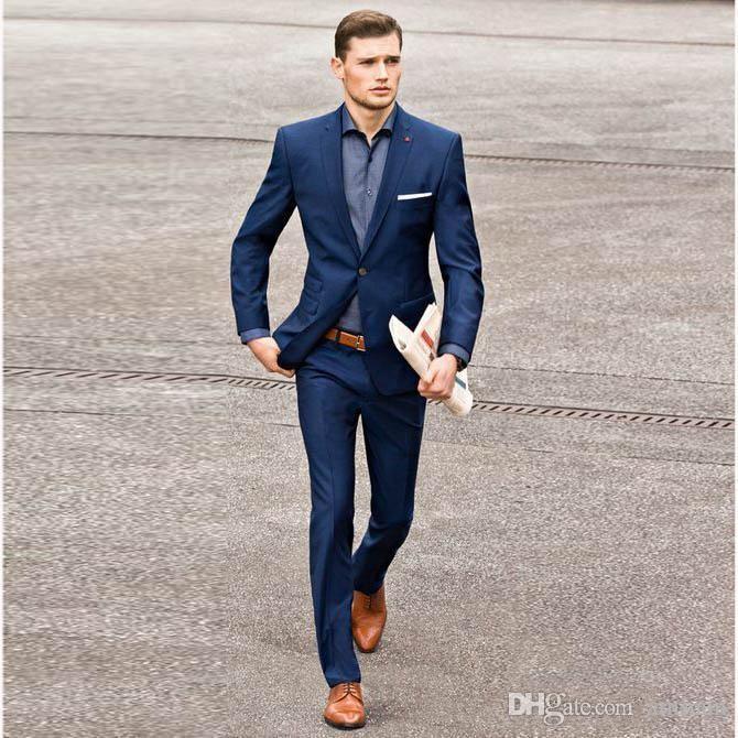 Summer Navy Blue Men Suits 2019 Wedding Suits For Men Gentle Male .