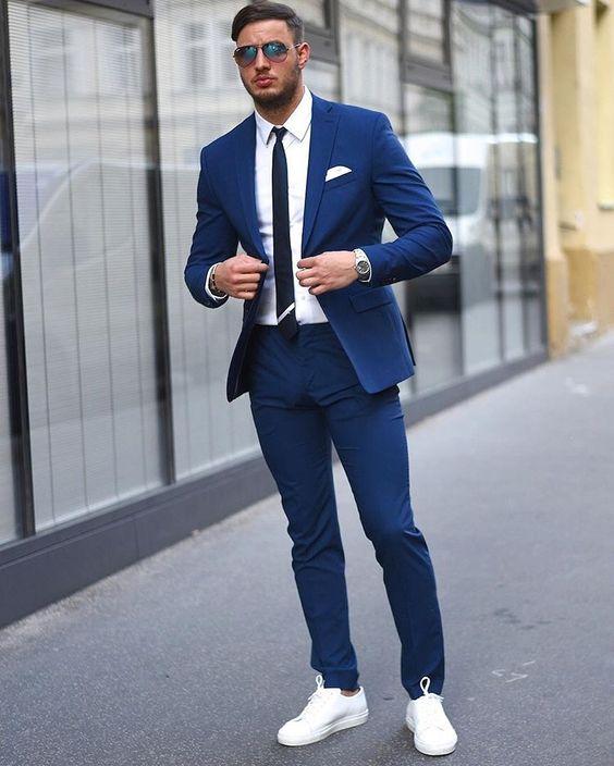 Accessories for Navy Blue Suits - Mens Suit Bl