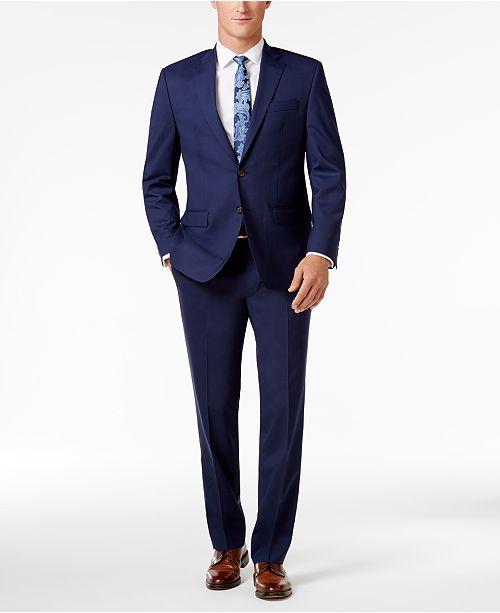 Lauren Ralph Lauren Men's Classic-Fit Navy UltraFlex Suit .