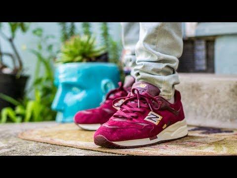 Ubiq x New Balance 1600 English Crown On Foot Sneaker Review - YouTu