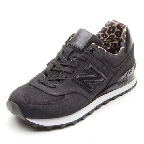 Limited edition leopard New Balance 574 black women | Running .