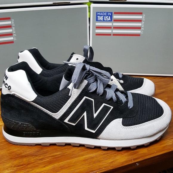 New Balance Shoes | 574 Usa Black White Us574cm2 Running | Poshma