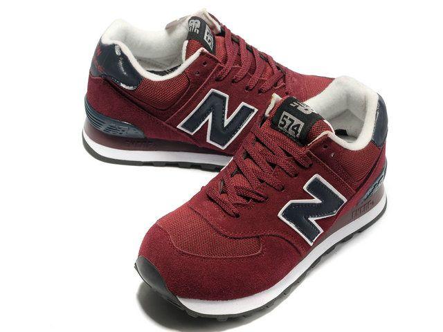 New Balance NB 574 classic purplish Red Black For Men shoes | New .