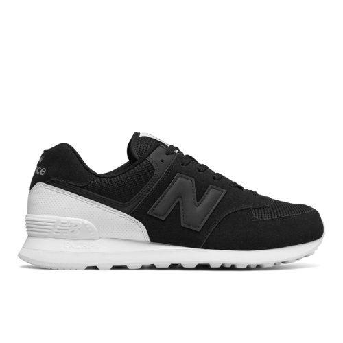 574 New Balance Men's 574 Shoes - Black/White (ML574WA) | Black .