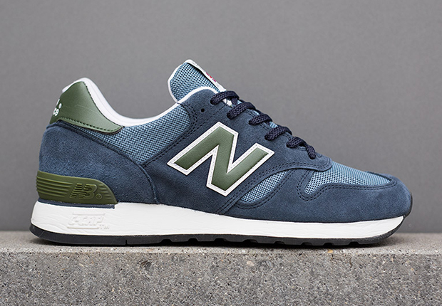 New Balance 670 Made in UK - Blue - Olive - SneakerNews.c