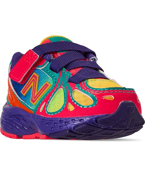 New Balance Toddler Girls 890 Stay-Put Closure Running Sneakers .