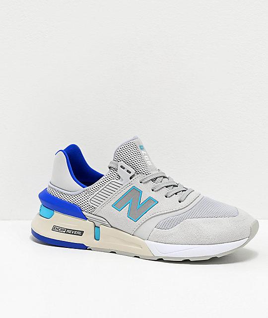 New Balance Lifestyle 997 Sport Light Aluminum & Bayside Shoes .
