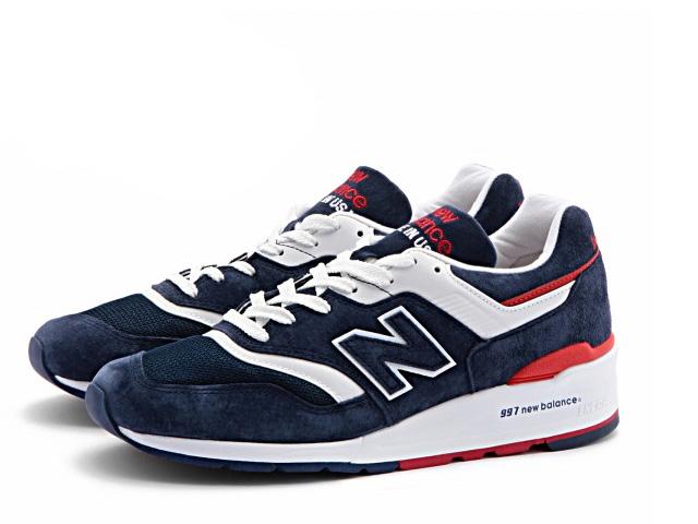 PREMIUM ONE: New Balance 997 navy red men sneakers new balance .