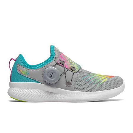 New Balance Fuel Core Boa - Silver Mink/Rainbow - Kids - LWShoes.c