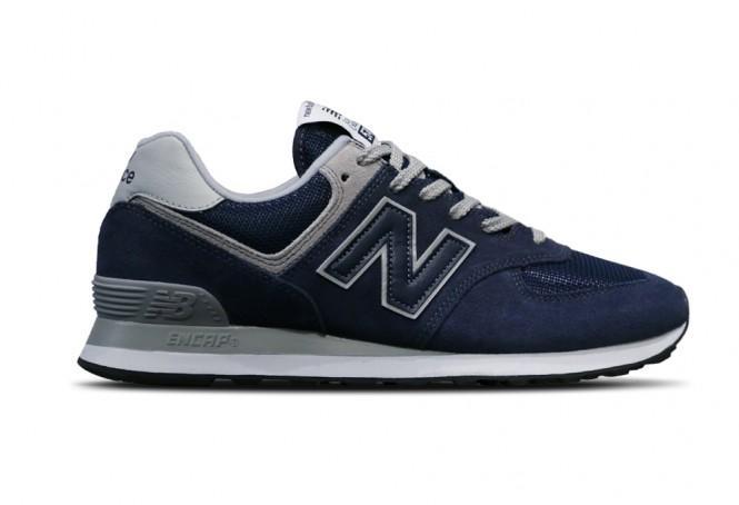New Balance Men's Shoe 574 Navy/Grey - Foot Paths Sho