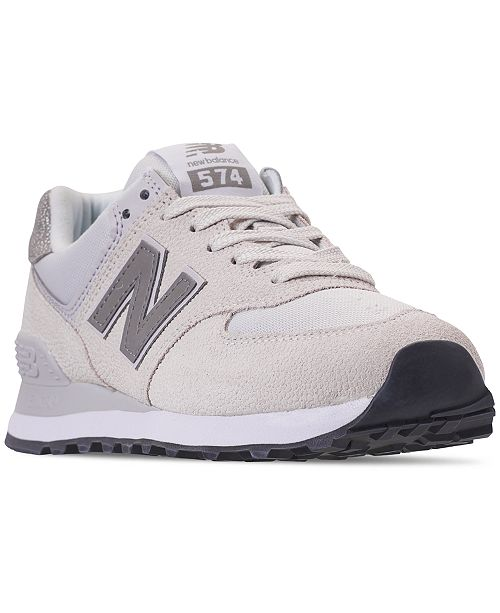 New Balance Women's 574 Pebbled Casual Sneakers from Finish .