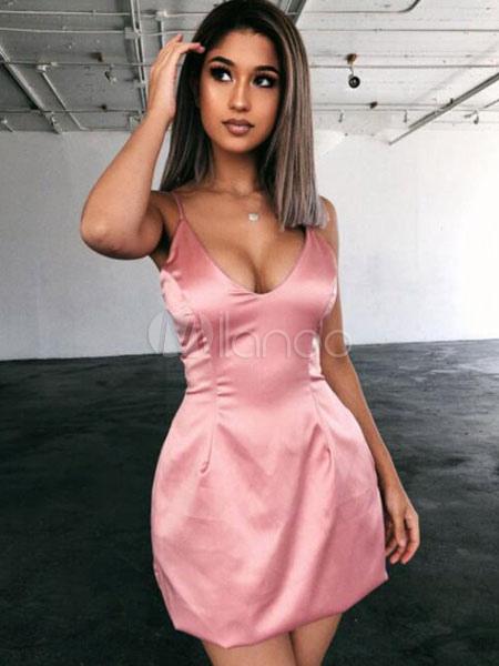 Sexy Bodycon Dresses Pink Sleeveless Night Out Dress Women Slip .