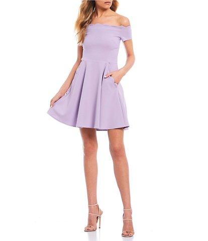 B. Darlin Purple Juniors' Night Out Dresses | Dillard