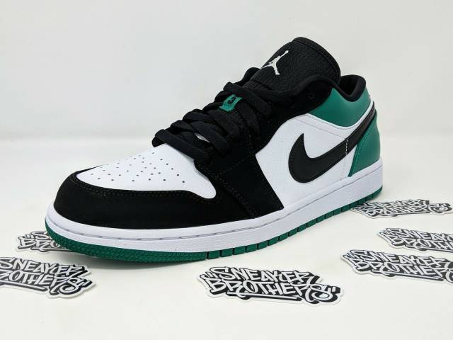 Nike Air Jordan Retro I 1 Low Mystic Green White Black Men's .