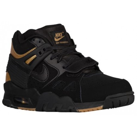 black and gold nike running shoes,Nike Air Trainer III - Boys .