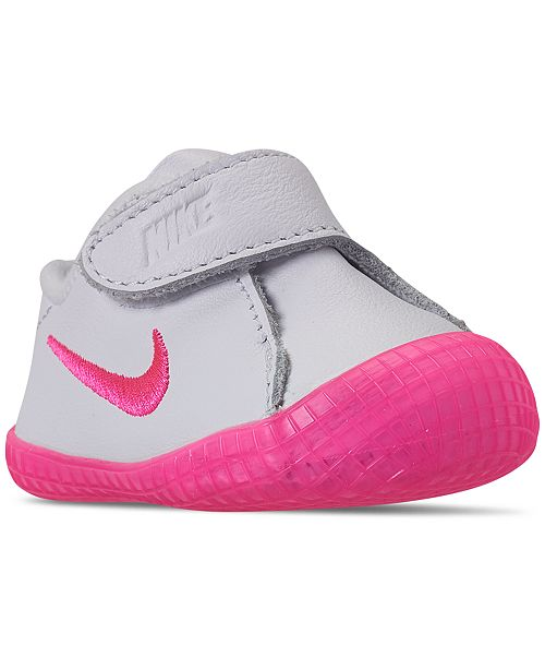Nike Baby Girls' Waffle 1 Premium Crib Booties from Finish Line .