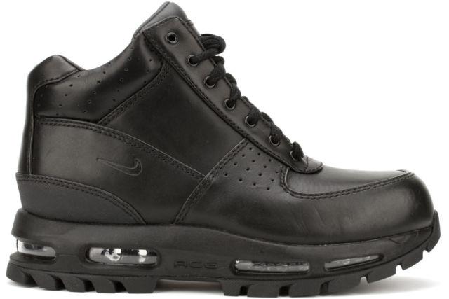 Nike Air Max Goadome 2013 599474 050 Black Leather Boots Mens SZ 8 .