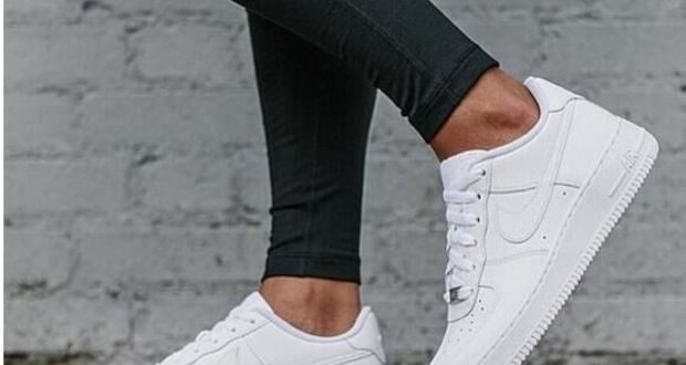 NIKE Women Men Running Sport Casual Shoes Sneakers Air force White .