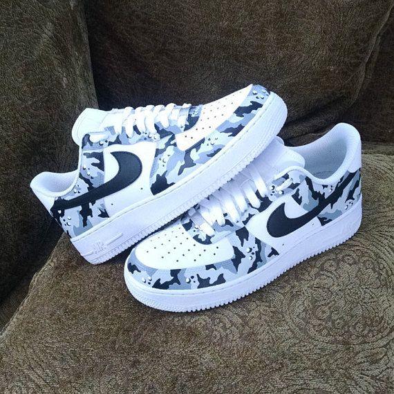 Camouflage Custom Nike Air Force 1 | Custom nike shoes, Hype shoes .