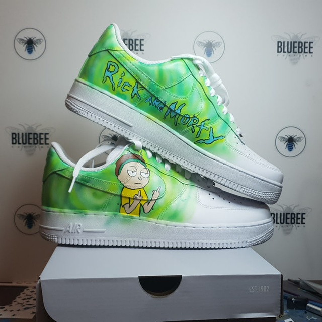 Rick And Morty Custom Nike Air Force 1. | THE CUSTOM MOVEME