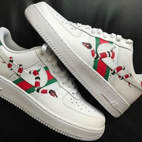 THESE ARE CUSTOM! Gucci X Nike custom. Shoes are... - Dep