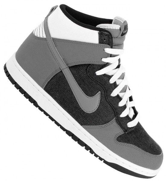 Nike Dunk High - Black / Cool Grey - White | Nike dunks, Sneakers .