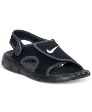 Nike Kids Shoes, Boys Sunray Adjust 4 Velcro Sandals - Black 11 .
