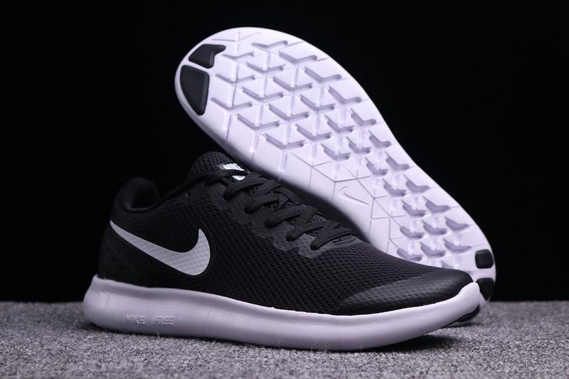 Unisex Nike Free Run 6. 0 Black White Men's Women's Running Shoes .