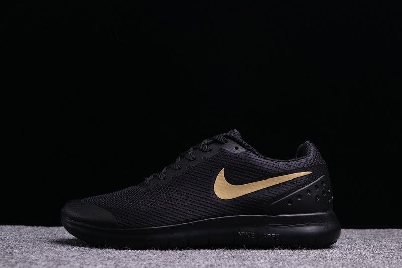 Hot Sale Nike Free Run 6. 0 Black Gold Mens Running Shoes .