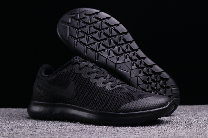 Men's Nike Free Run 6. 0 Triple Black Boys Running Shoes .