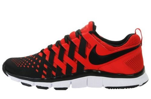 Nike Mens Free Trainer 5 0 V5 Red Black Woven Running Shoes 579809 .